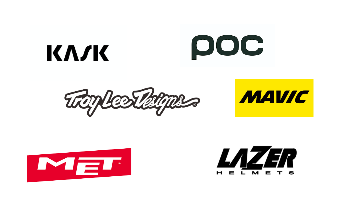 Logo des marques de casques de vélo